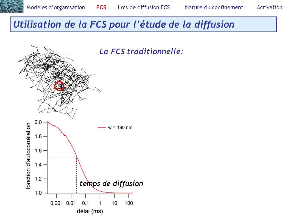 Utilisation de la FCS pour l'étude de la diffusion