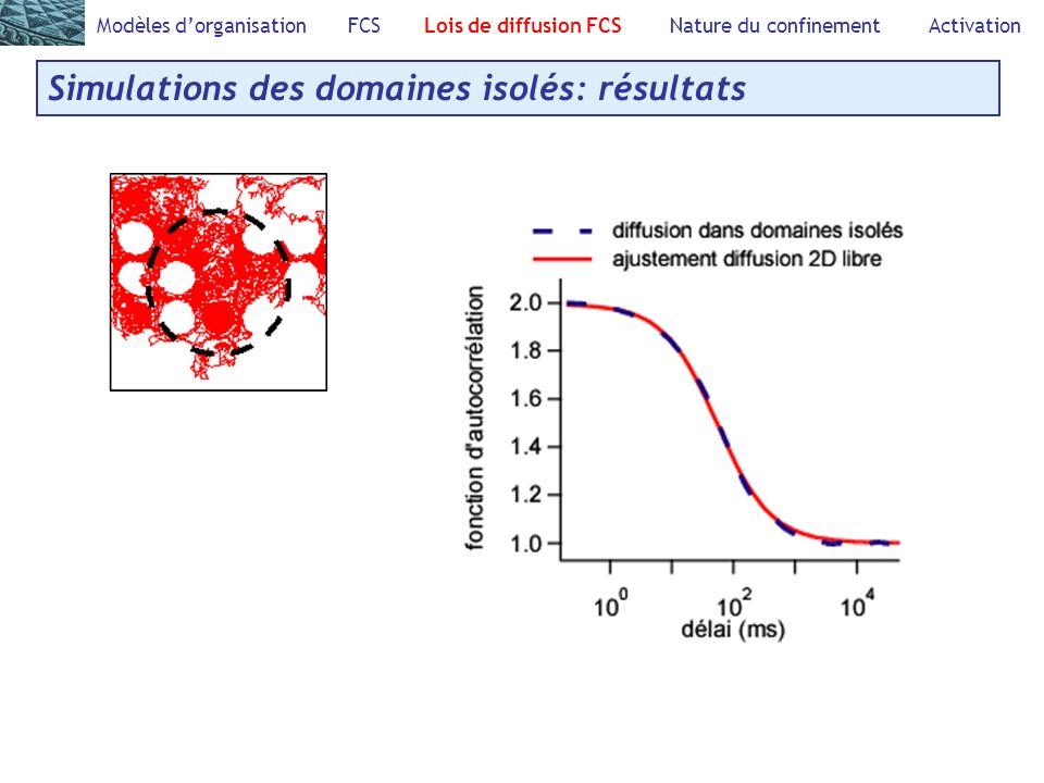 Simulations des domaines isolés: résultats