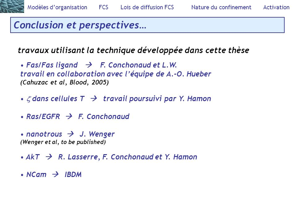 Conclusion et perspectives…