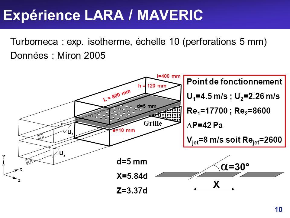 Expérience LARA / MAVERIC