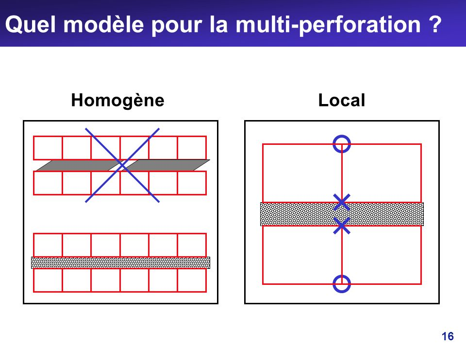 Quel modèle pour la multi-perforation