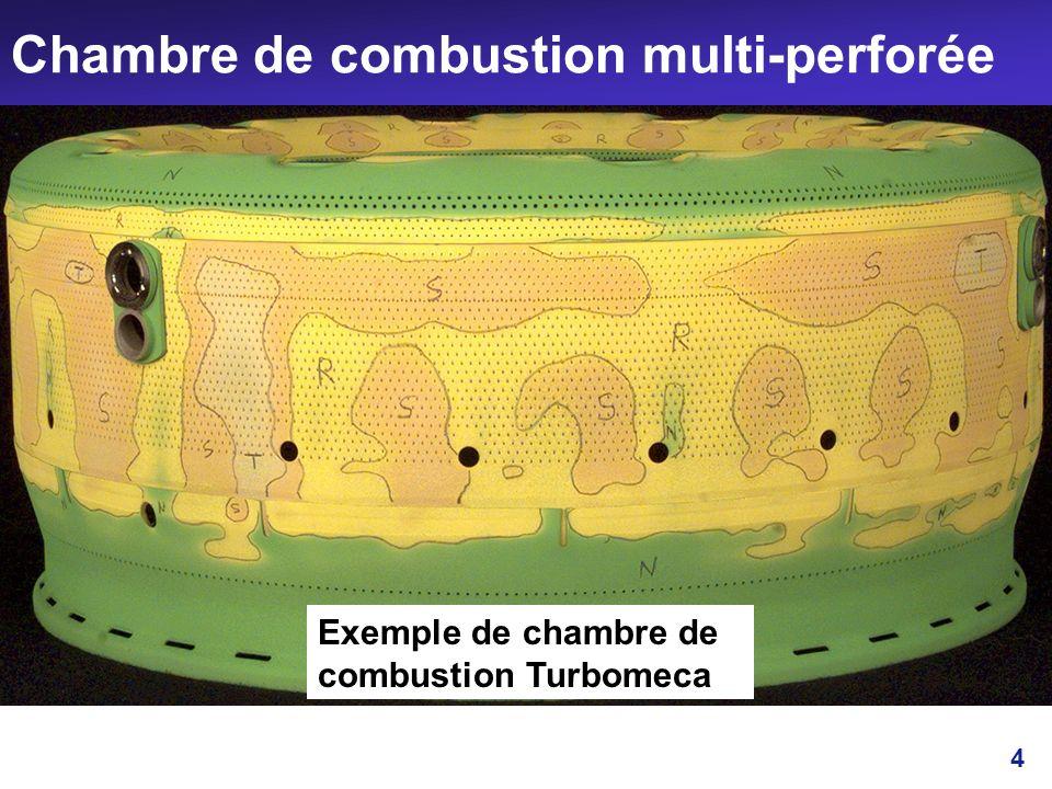 Chambre de combustion multi-perforée