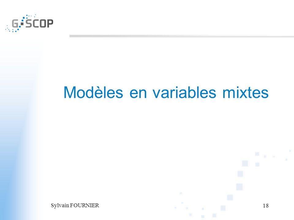 Modèles en variables mixtes
