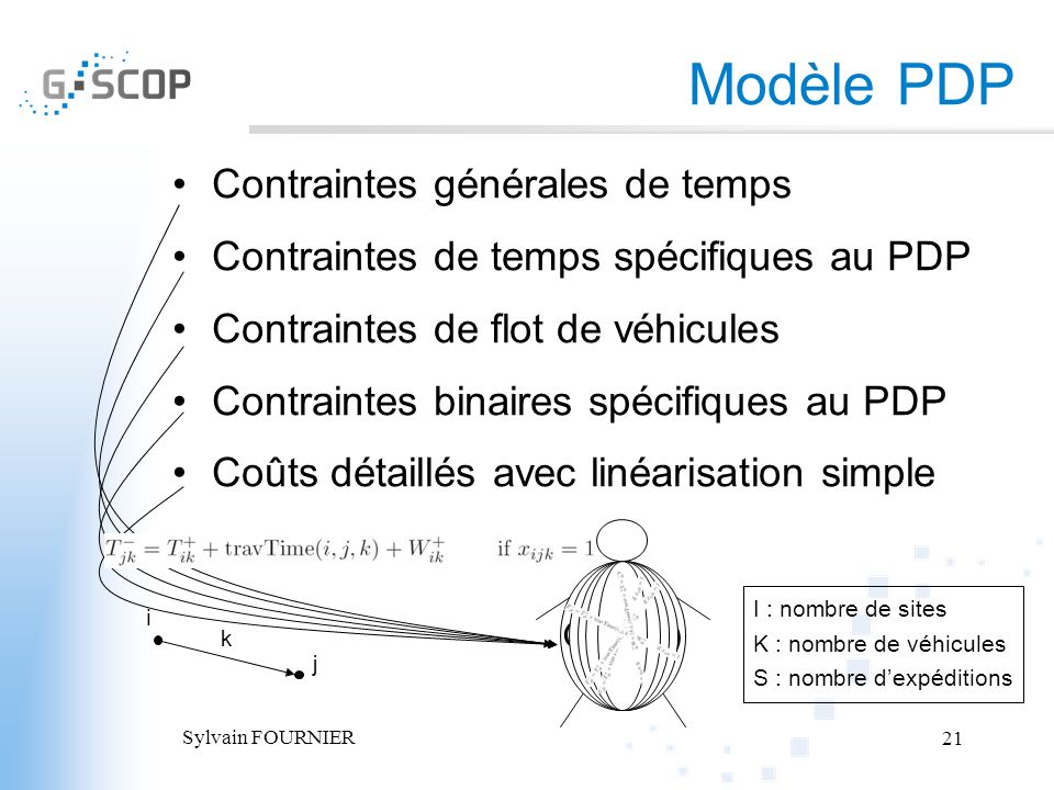 Modèle PDP Contraintes générales de temps