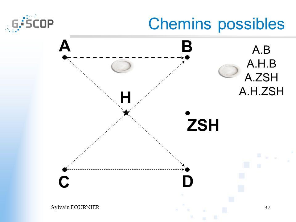 Chemins possibles A B H ZSH C D A.B A.H.B A.ZSH A.H.ZSH