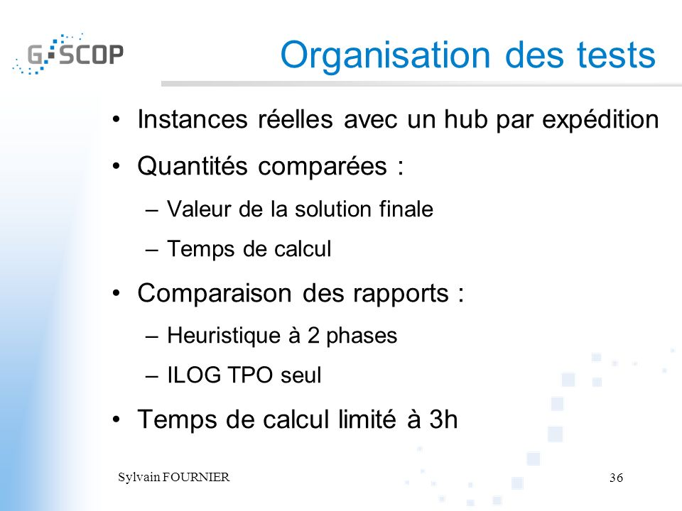Organisation des tests