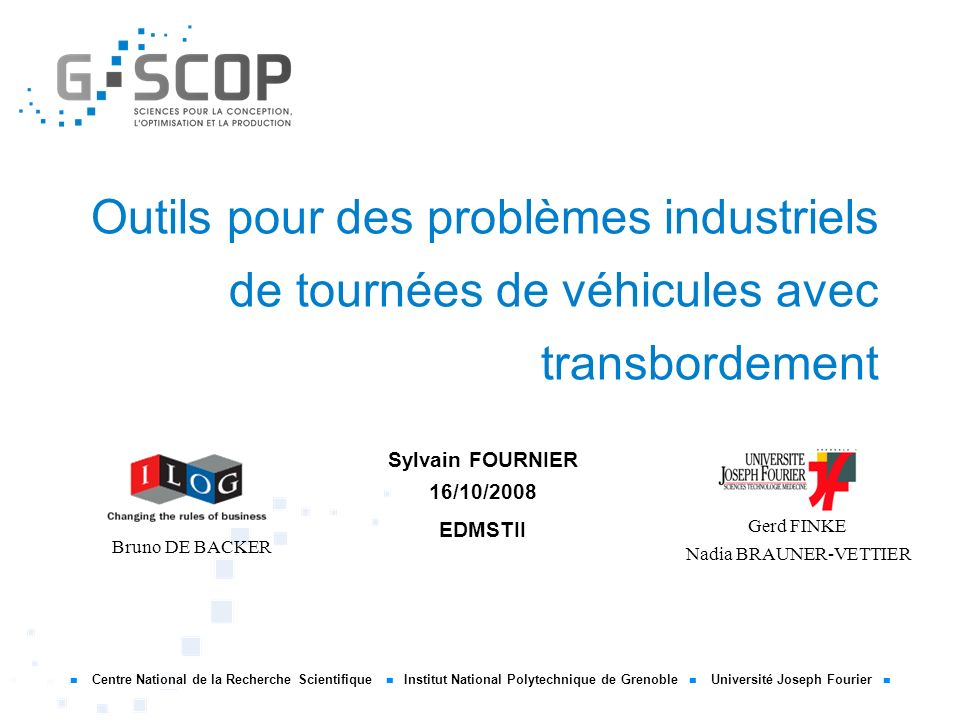 Sylvain FOURNIER 16/10/2008 EDMSTII