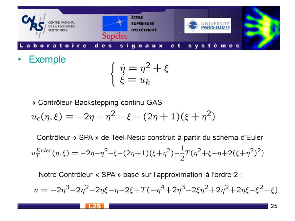 Exemple « Contrôleur Backstepping continu GAS