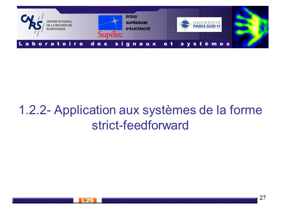 1.2.2- Application aux systèmes de la forme strict-feedforward