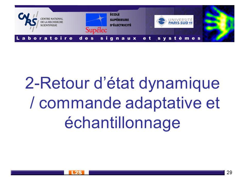 2-Retour d'état dynamique / commande adaptative et échantillonnage