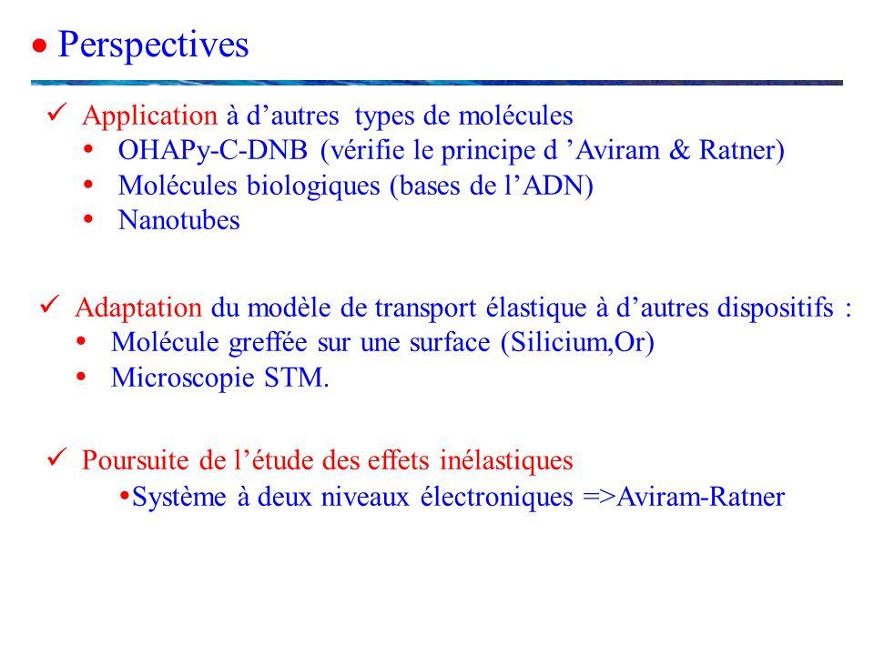 Système à deux niveaux électroniques =>Aviram-Ratner
