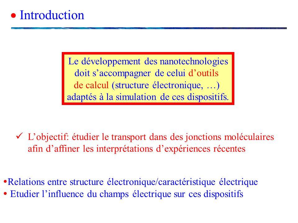  Introduction Le développement des nanotechnologies