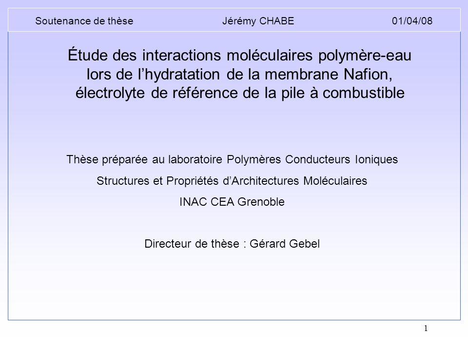 Soutenance de thèse Jérémy CHABE 01/04/08