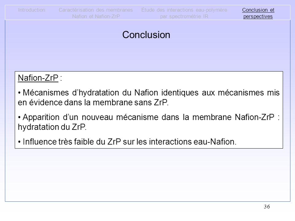 Conclusion Nafion-ZrP :