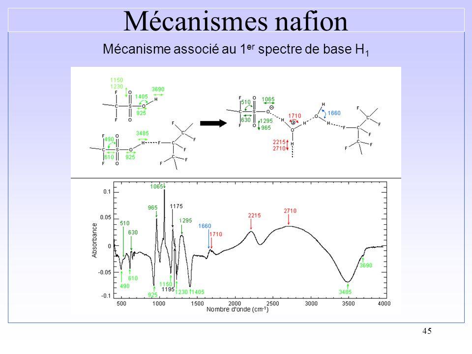 Mécanisme associé au 1er spectre de base H1