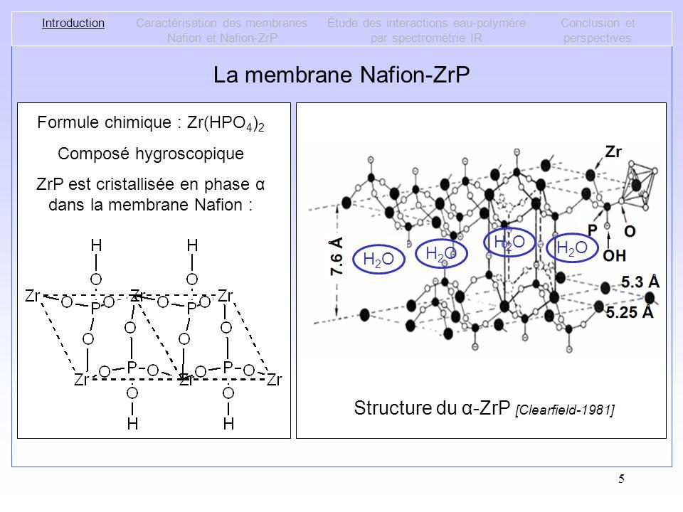 La membrane Nafion-ZrP