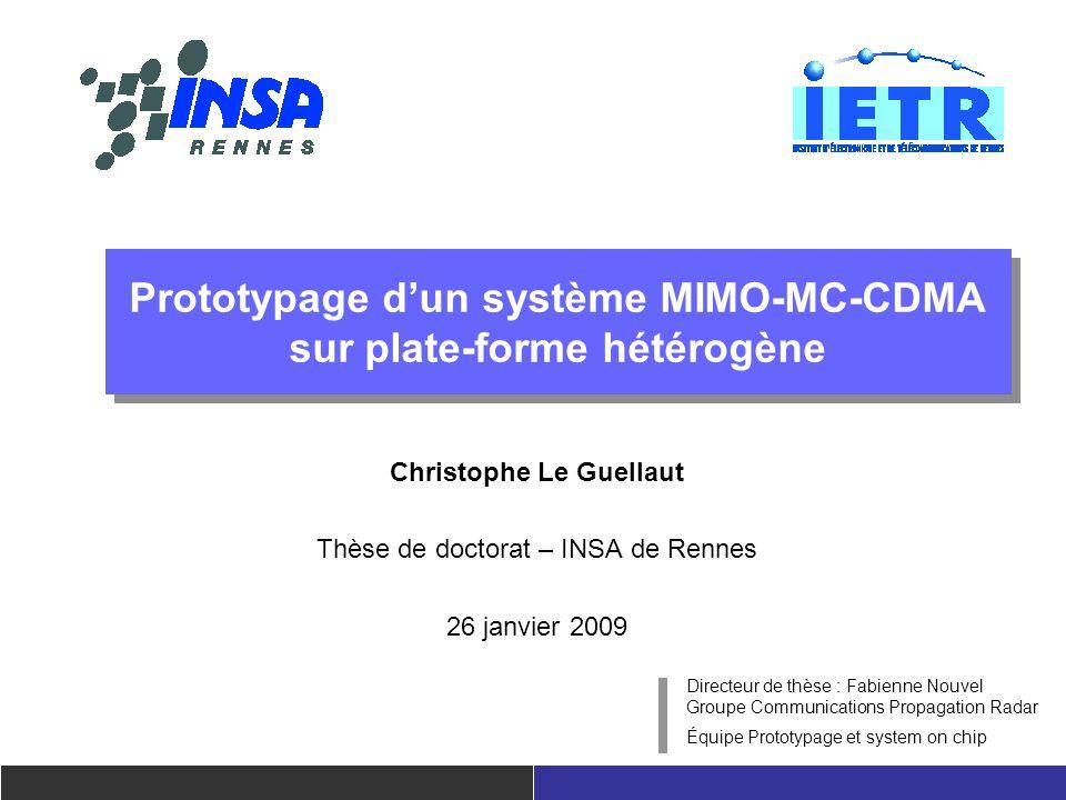 Prototypage d'un système MIMO-MC-CDMA sur plate-forme hétérogène