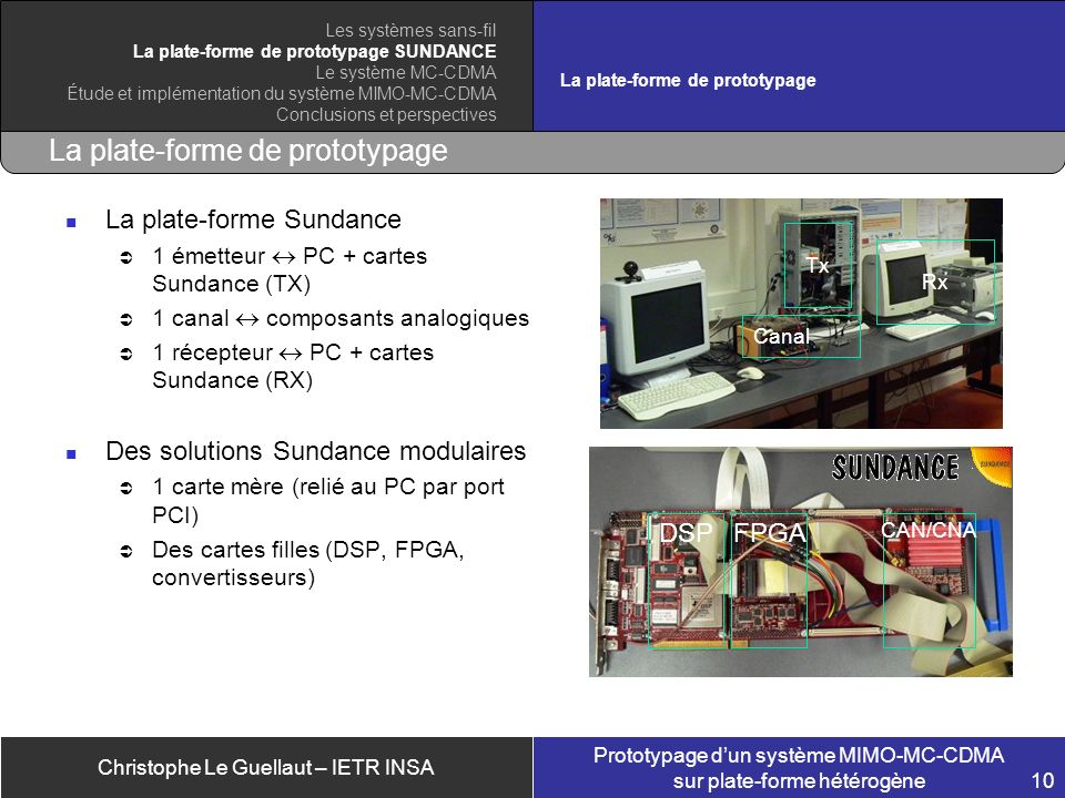 La plate-forme de prototypage