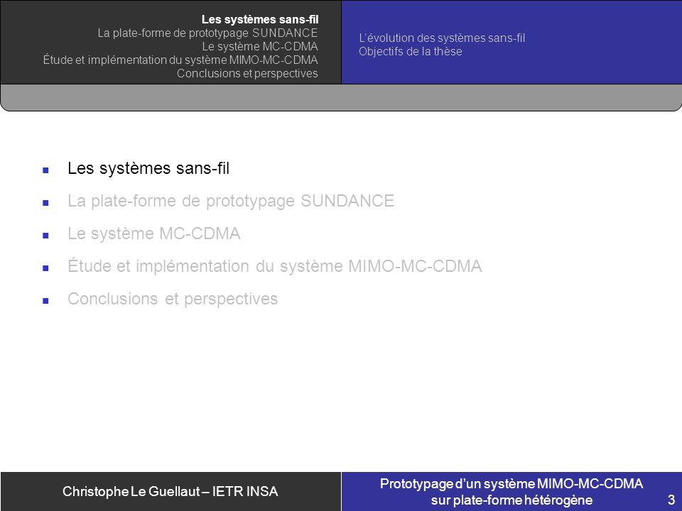 La plate-forme de prototypage SUNDANCE Le système MC-CDMA