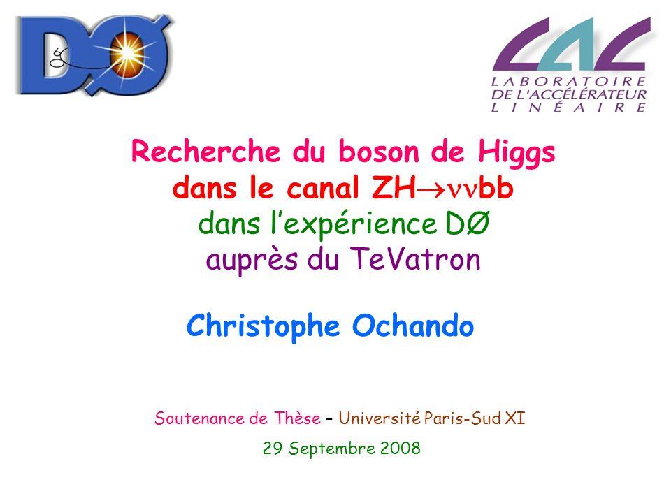Recherche du boson de Higgs dans le canal ZHbb dans l'expérience DØ