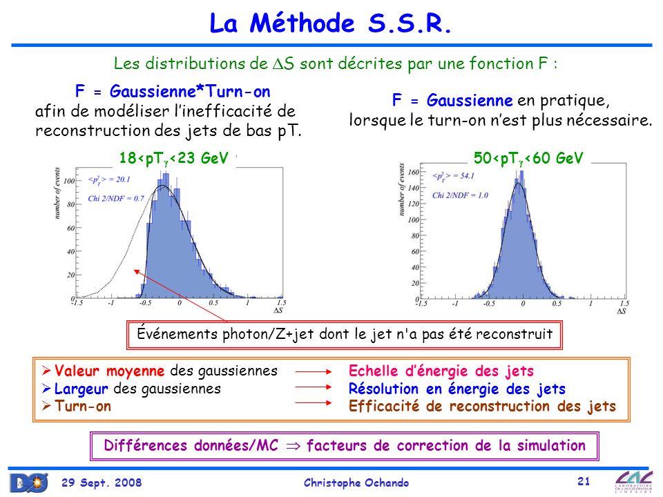 Différences données/MC  facteurs de correction de la simulation
