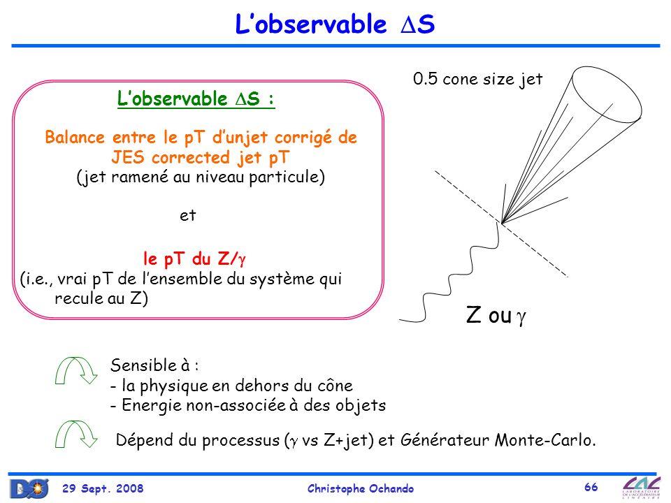 L'observable S Z ou  L'observable S : 0.5 cone size jet