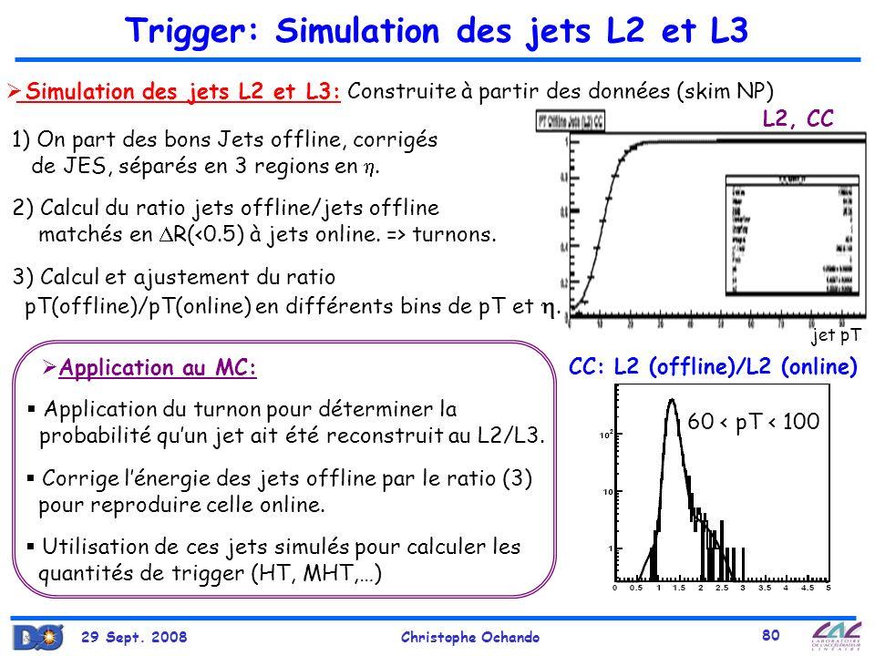 Trigger: Simulation des jets L2 et L3