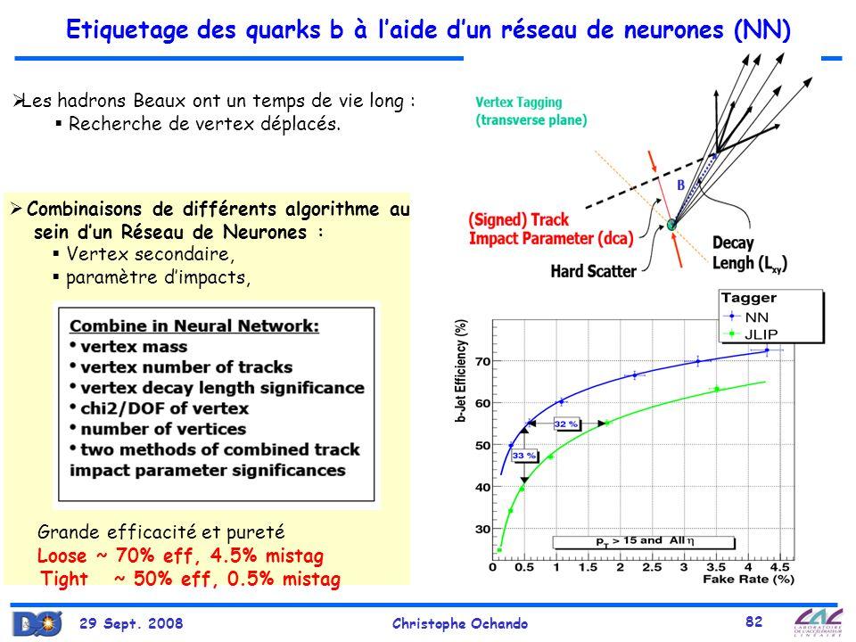 Etiquetage des quarks b à l'aide d'un réseau de neurones (NN)