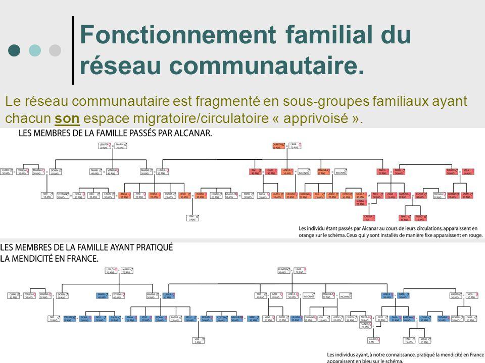 Fonctionnement familial du réseau communautaire.