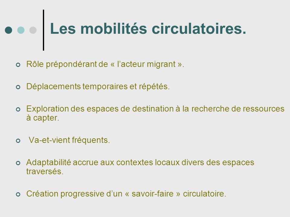 Les mobilités circulatoires.