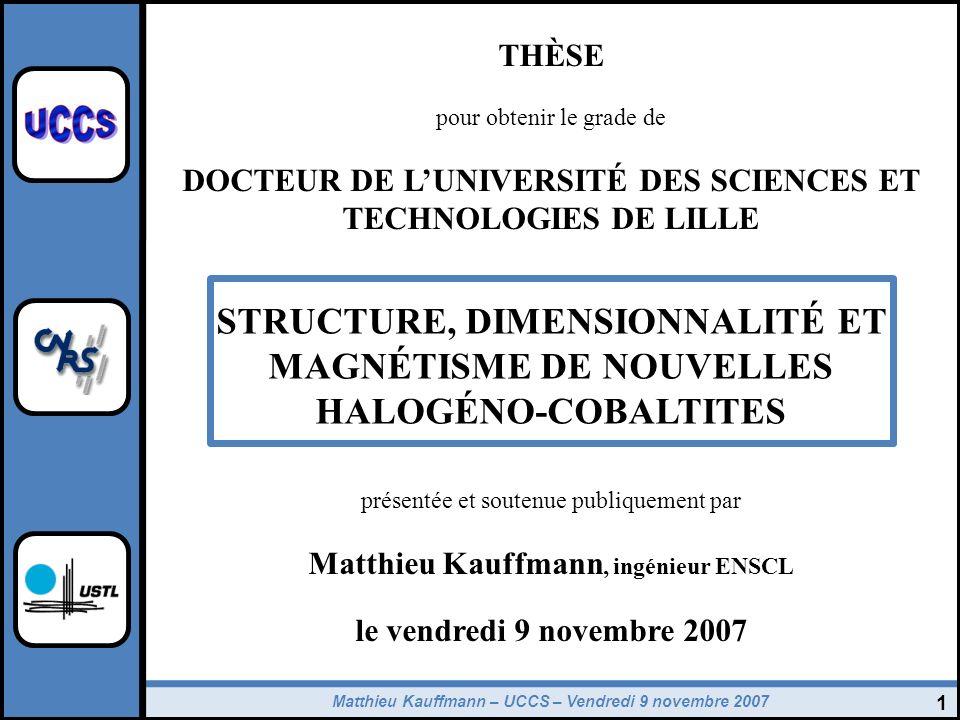 THÈSE pour obtenir le grade de. DOCTEUR DE L'UNIVERSITÉ DES SCIENCES ET TECHNOLOGIES DE LILLE.