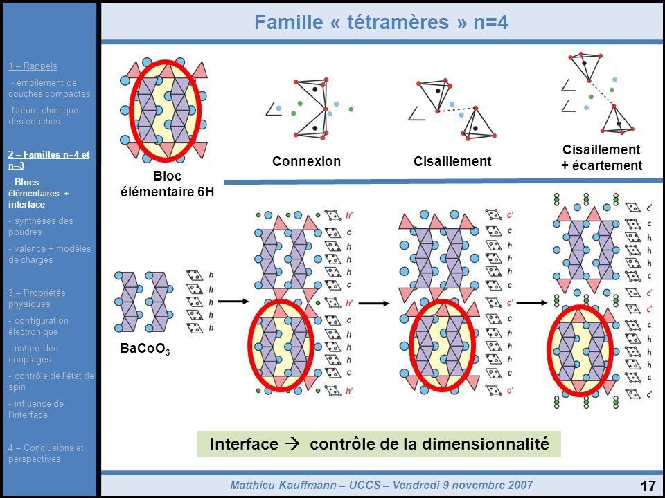 Famille « tétramères » n=4