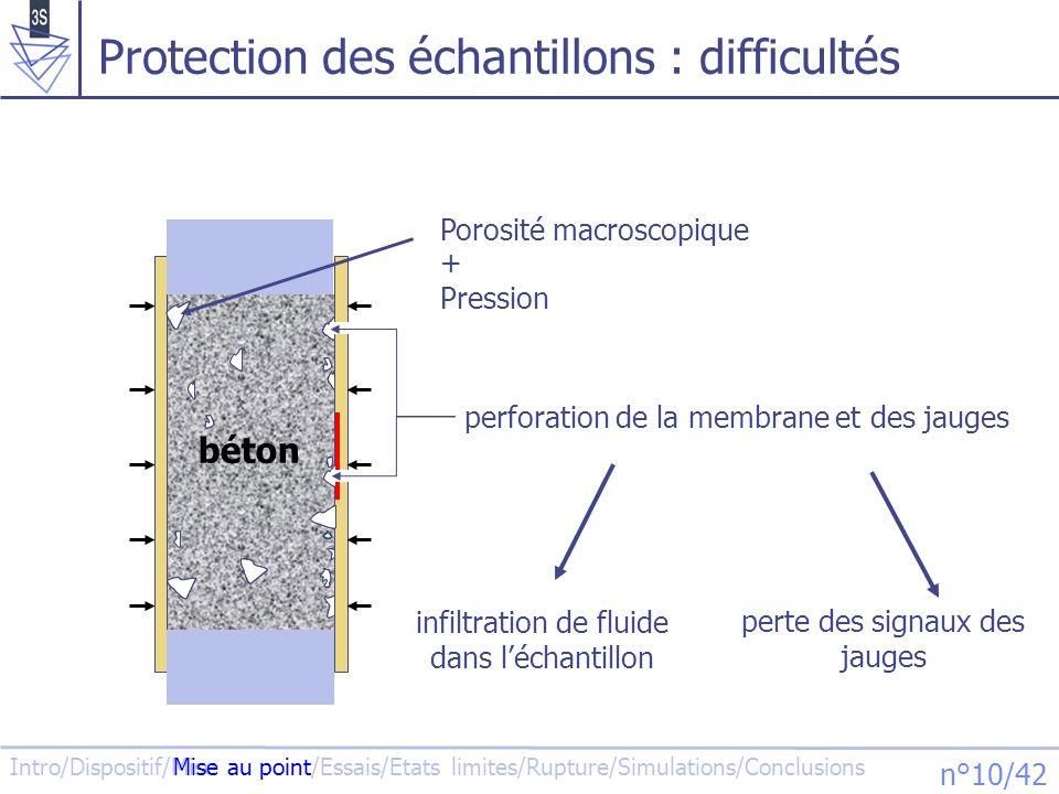 Protection des échantillons : difficultés