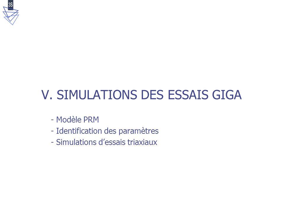 V. SIMULATIONS DES ESSAIS GIGA