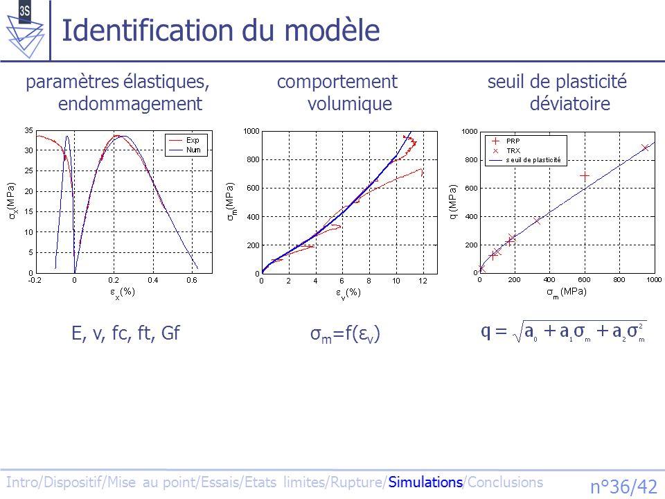 Identification du modèle