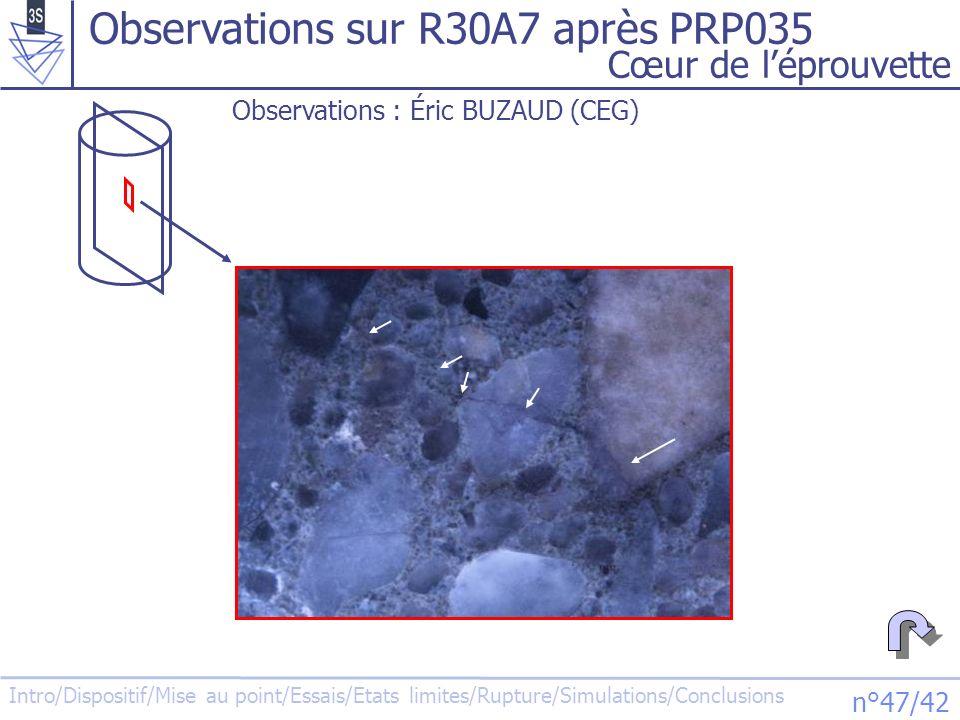 Observations sur R30A7 après PRP035