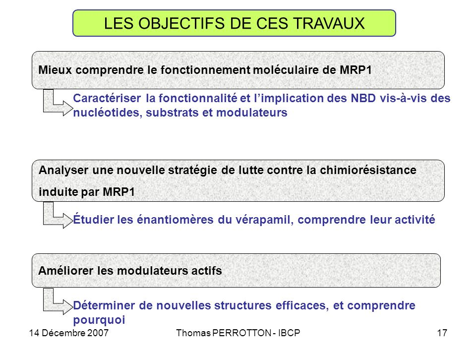 LES OBJECTIFS DE CES TRAVAUX