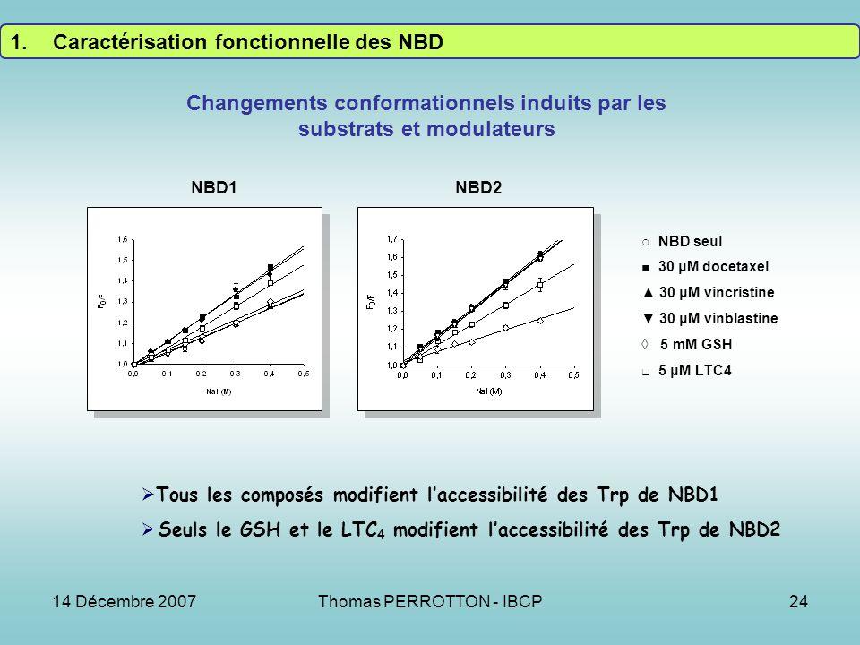 Changements conformationnels induits par les substrats et modulateurs