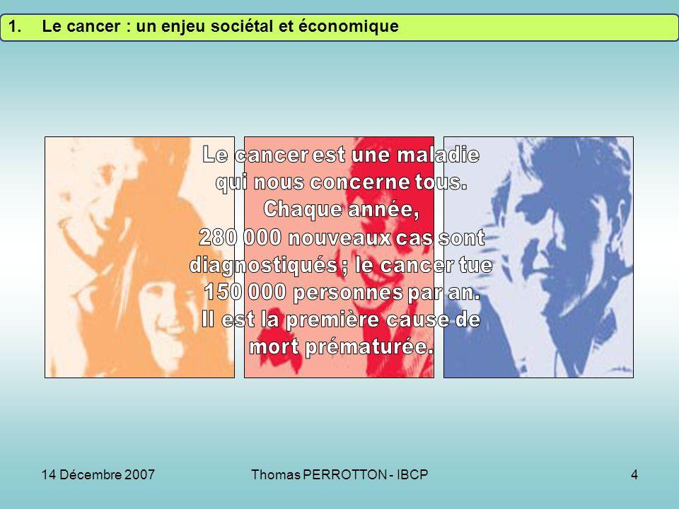 Le cancer : un enjeu sociétal et économique