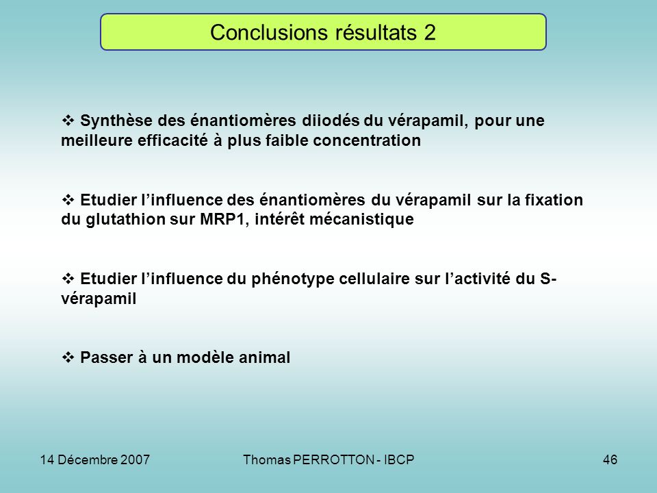 Conclusions résultats 2