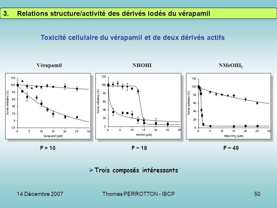 Toxicité cellulaire du vérapamil et de deux dérivés actifs