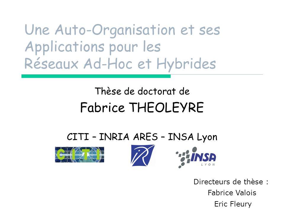 Thèse de doctorat de Fabrice THEOLEYRE CITI – INRIA ARES – INSA Lyon