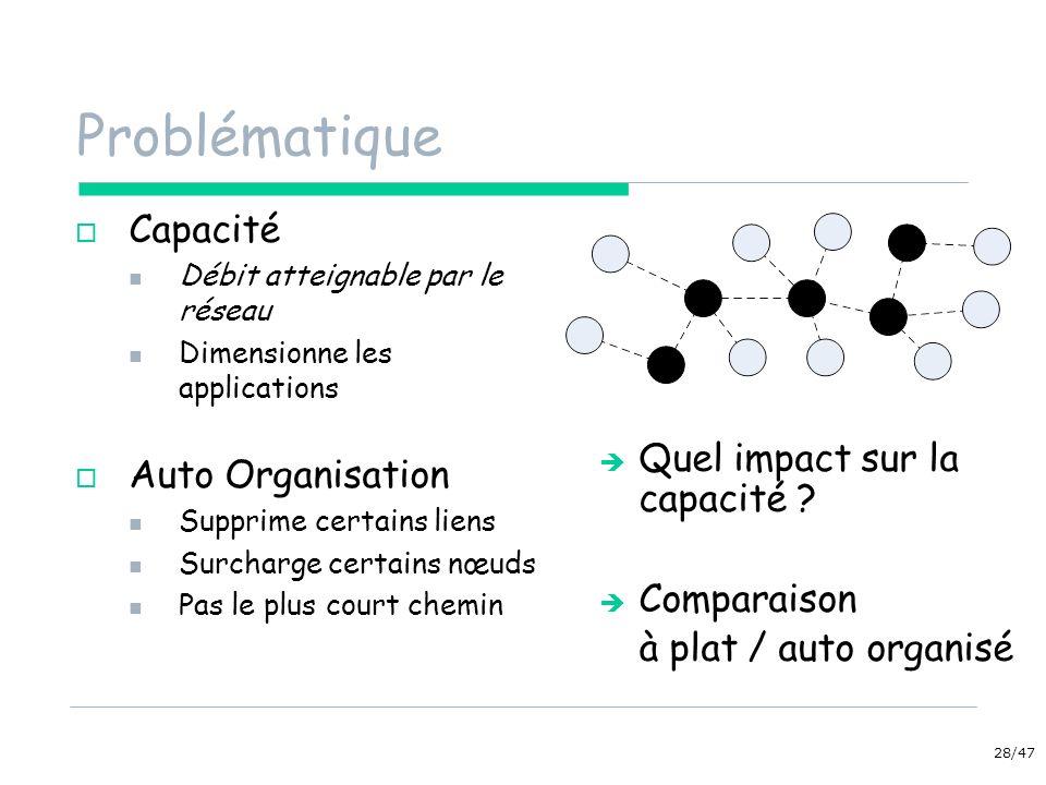 Problématique Capacité Auto Organisation Quel impact sur la capacité