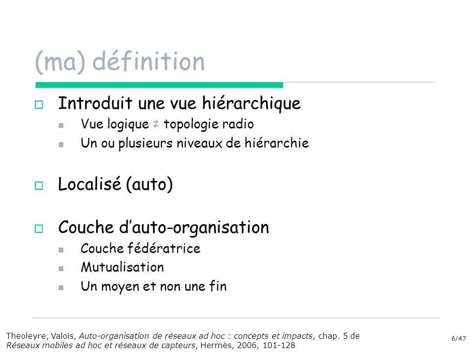 (ma) définition Introduit une vue hiérarchique Localisé (auto)