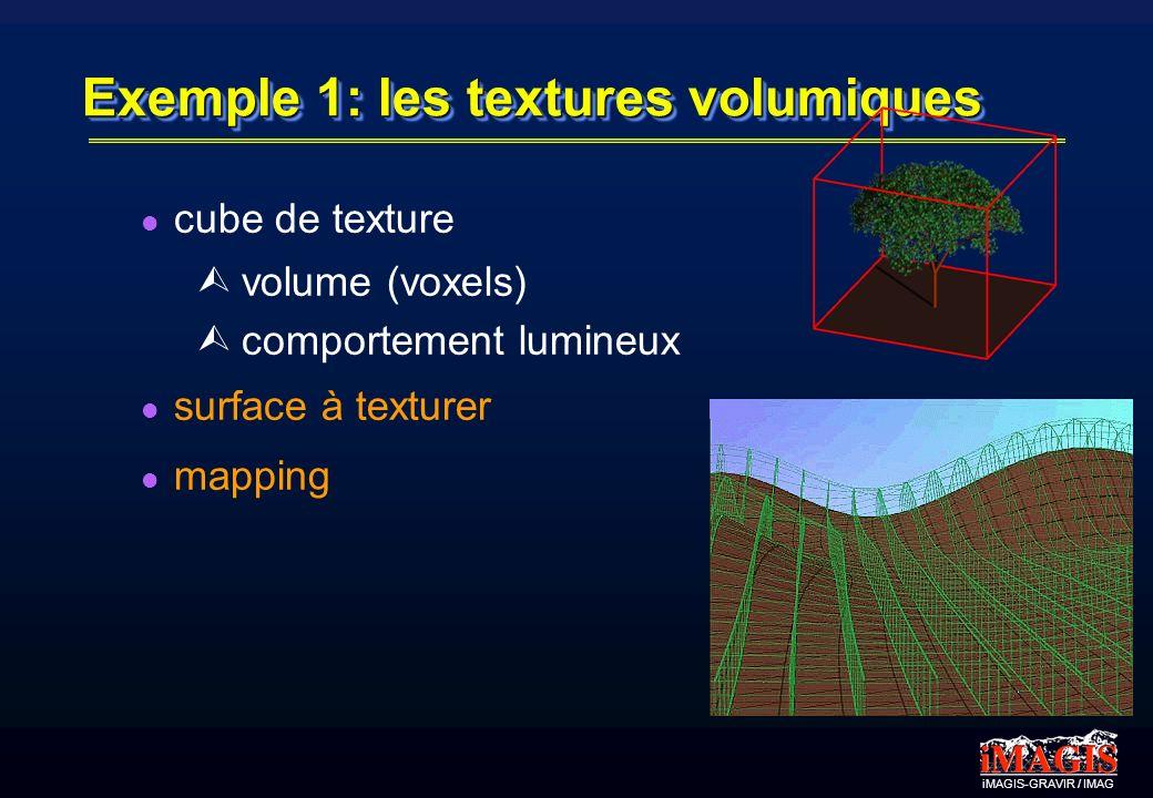 Exemple 1: les textures volumiques