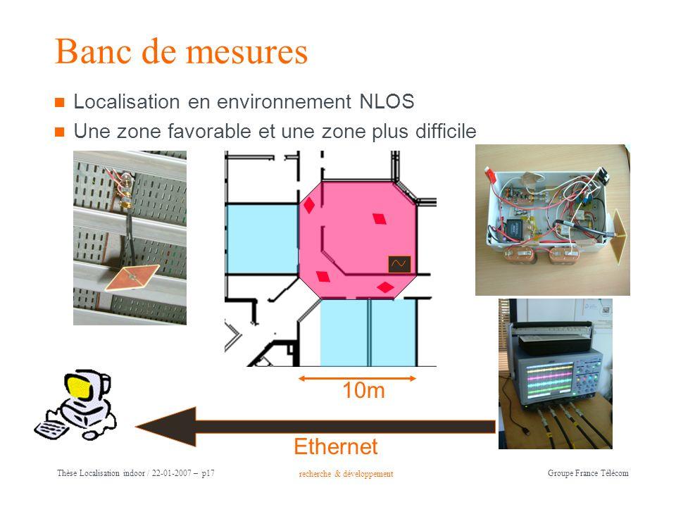 Banc de mesures 10m Ethernet Localisation en environnement NLOS