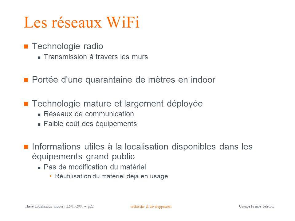 Les réseaux WiFi Technologie radio