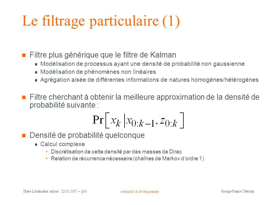 Le filtrage particulaire (1)