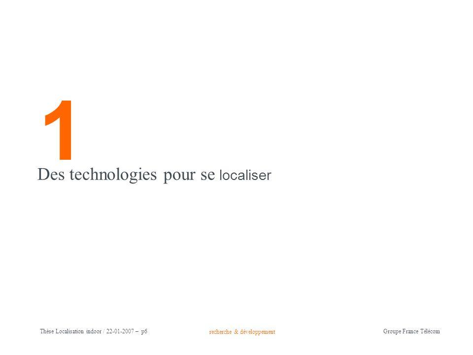 1 Des technologies pour se localiser