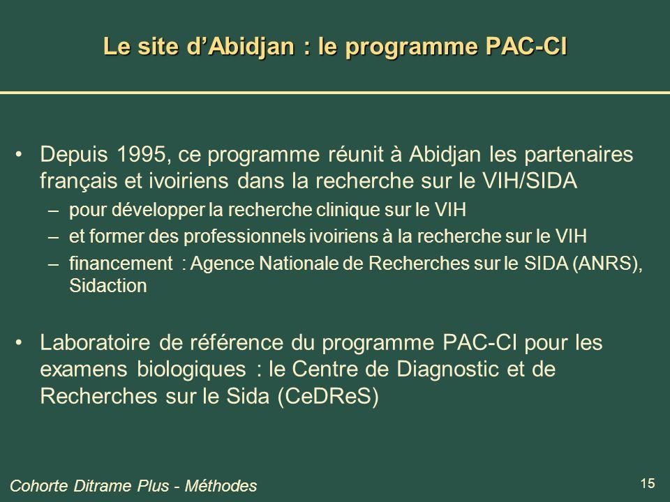 Le site d'Abidjan : le programme PAC-CI